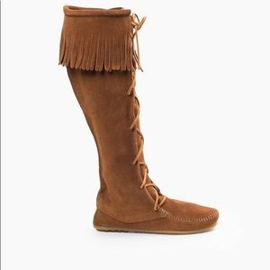 Knee High Moccasin Boots